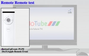 Remote apple remote HTML demo